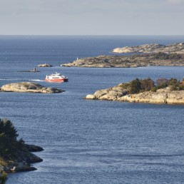 Överblick utöver Strömstads vackra skärgård.