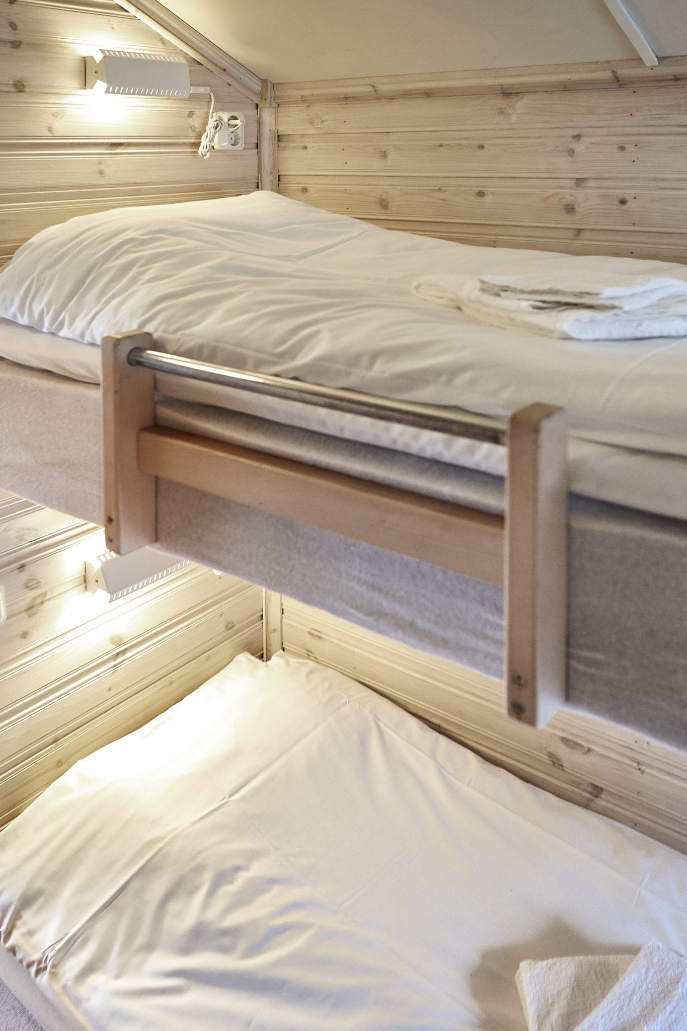 Två bäddade sängar på Lagunen.