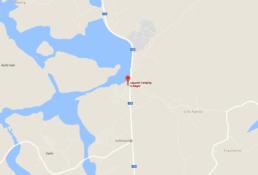 Lagunen Camping & Stugor utplacerat på en karta där man kan se läget nära Strömstad i Norra Bohuslän.