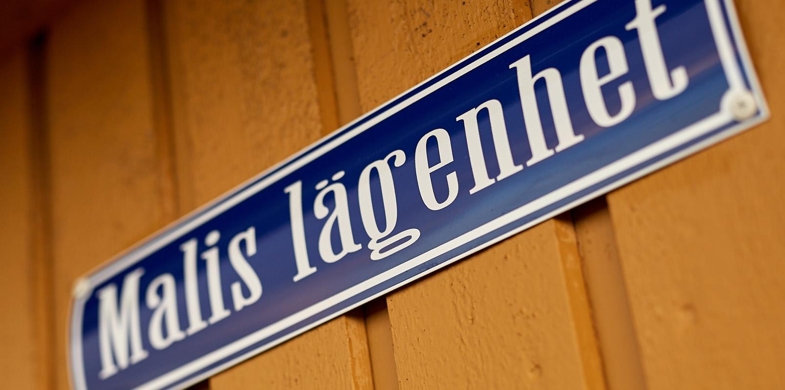 Inzoomad bild på en skyld på Lagunen: Malis lägenhet.