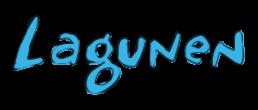 Lagunen logotyp i blått